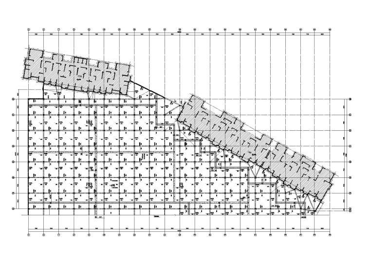 [六安]商业广场框架结构地下室结构施工图(2014)
