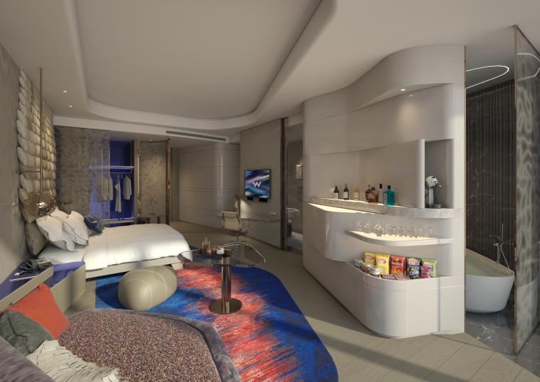 [AB Concept 奧必概念]西安万众W酒店 客房 手稿+效果图+深化设计方案