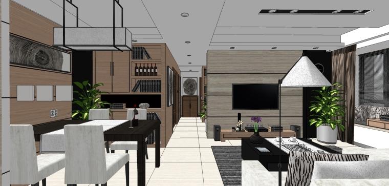 豪华现代风格住宅成套SU模型