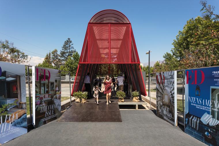 智利圣地亚哥展会入口亭装置-4