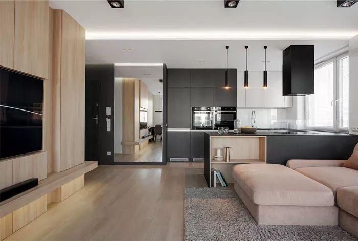 波兰:72平米的空间,既满足实用性,也拥有时髦与经典的艺术感