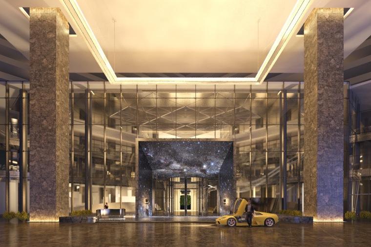 [ABConcept]西安万众W酒店丨公共空间设计效果图丨2016