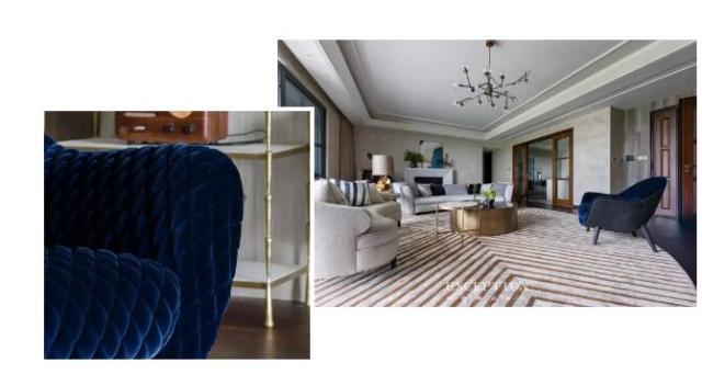 毅气风发--招商双玺豪宅软装设计全案-  【设计解读·客厅】   第2张图片