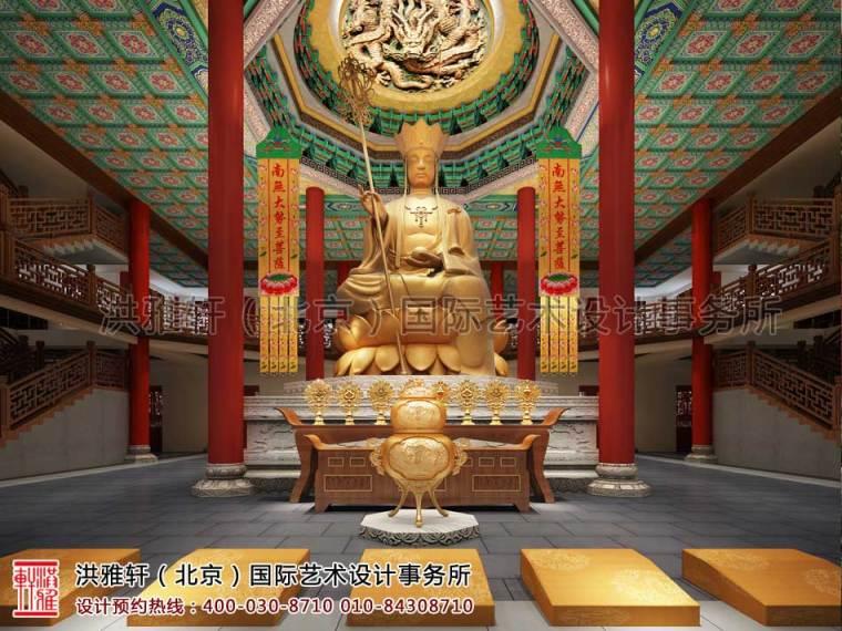 寺庙设计-四川省遂宁市大悲寺中式设计设计效果图案例第1张图片