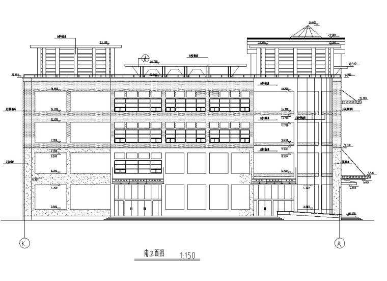大型多层商场商业建筑设计施工图CAD