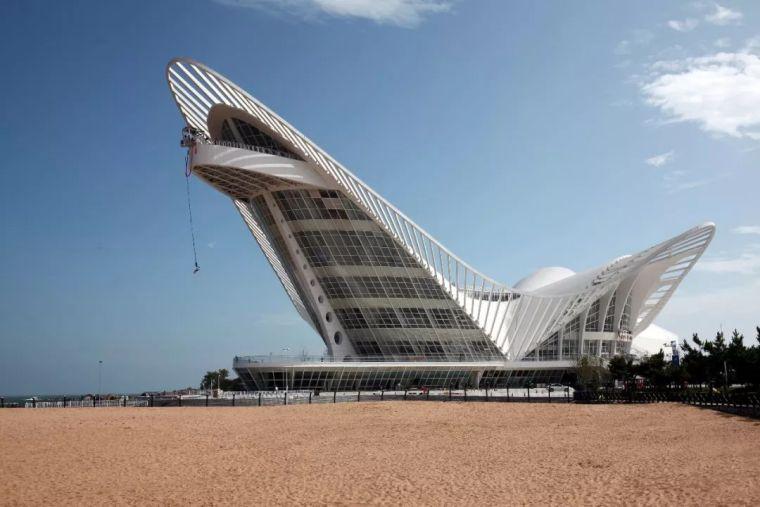 青岛海边出现了一只白色巨鸟,让人尽情感受建筑的想象力