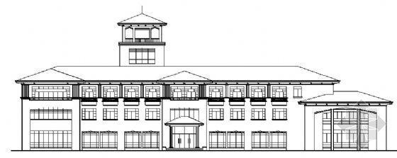某三层欧式小型办公楼建筑施工图