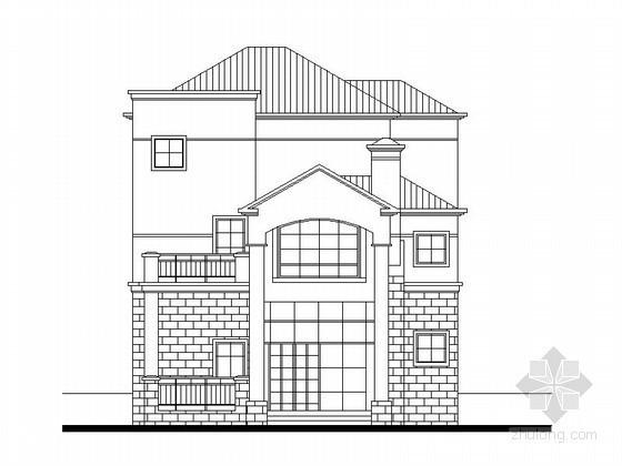某三层独栋别墅建筑方案图(236平方米)