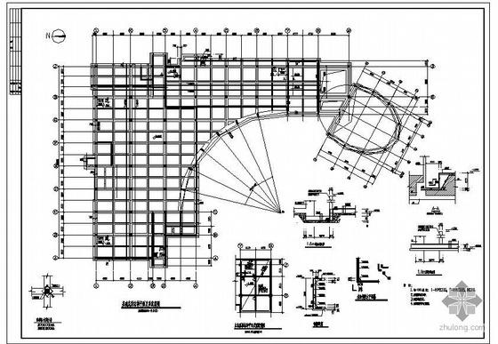 深圳某人防地下室结构图