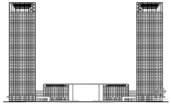 [南京市]新城某大厦建筑方案文本及施工图(带效果图)
