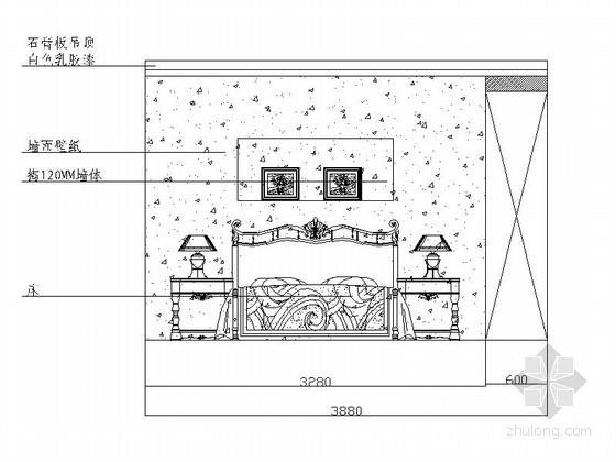 [贵阳]某四居室次卧室立面图(含效果)