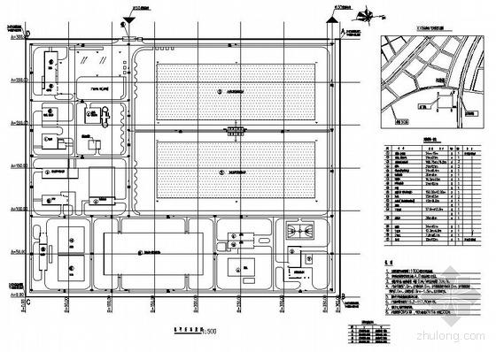 黑龙江某污水处理厂总平面图