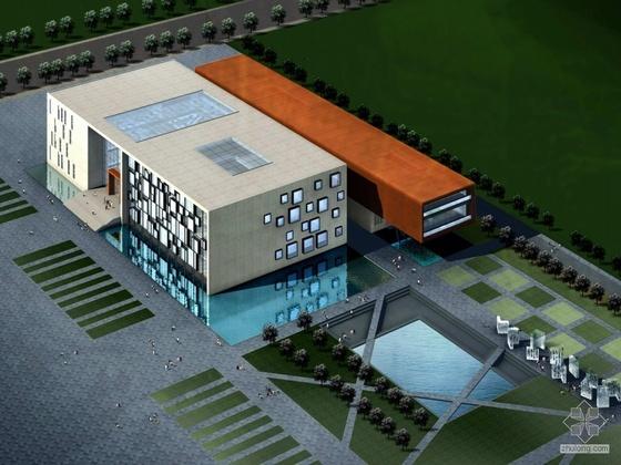 [南京]河西某图书馆规划及建筑方案文本(概念设计及方案文本)