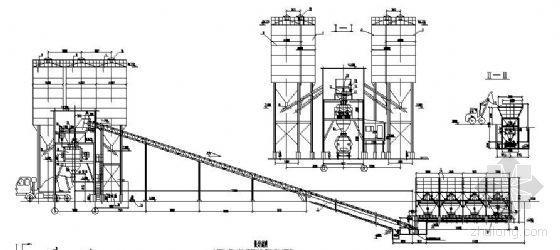 混凝土厂搅拌站结构图