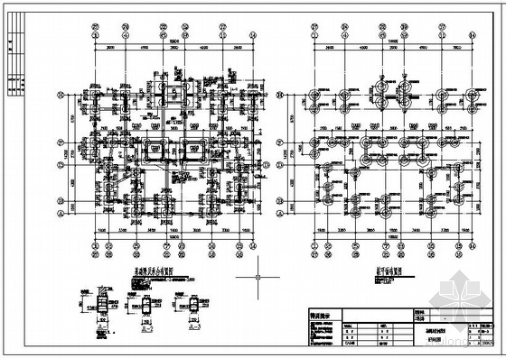 某别墅桩基础节点构造详图