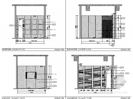 [佛山]现代高端甲级写字楼大小样板间室内装修图(含效果) 会议室立面