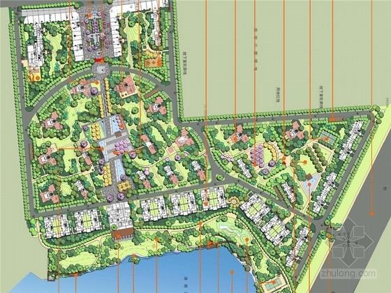 [武汉]结构主义现代居住区景观规划设计方案