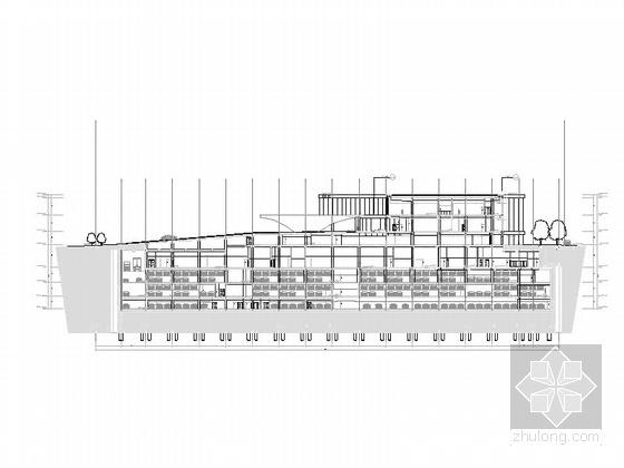 [天津]超高层框架钢结构航障灯墙面办公酒店综合体建筑施工图-超高层框架钢结构航障灯墙面办公酒店综合体建筑平面图