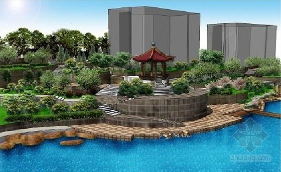 [山东]滨水小区环境景观设计方案-效果图