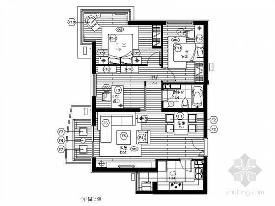 [北京]西二环现代高档三居室装修图