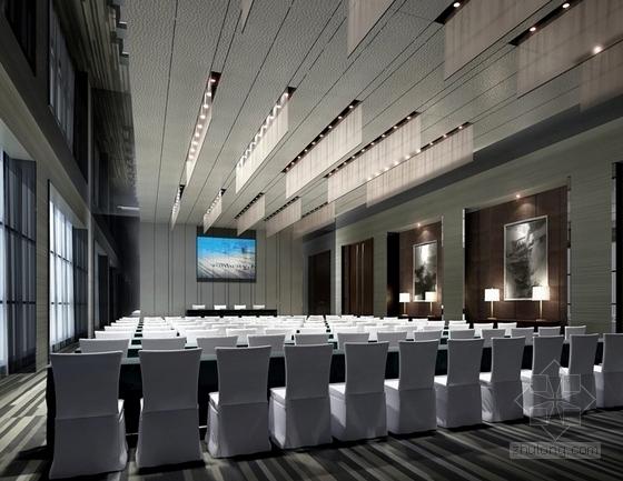 [福建]四星级现代温泉酒店室内装修设计方案大会议室效果