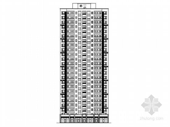 [湖南]25层现代风格商住两用住宅建筑施工图(知名设计院 2015年)