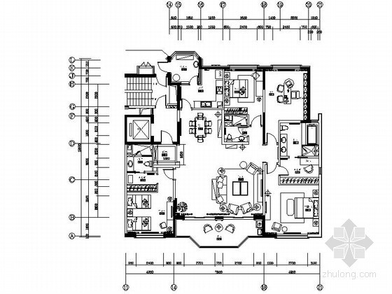 [上海]新古典四居室内装修设计图(含实景)