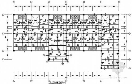 框架结构办公楼结构施工图(三层 独立基础)
