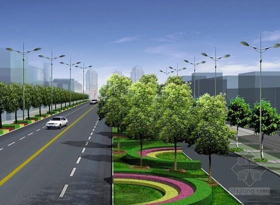 [山东]2015年市政道路景观改造工程招标文件(预算书 施工图纸)