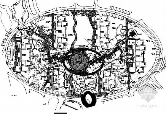[湖南长沙]住宅区中心组团景观绿化工程竣工图