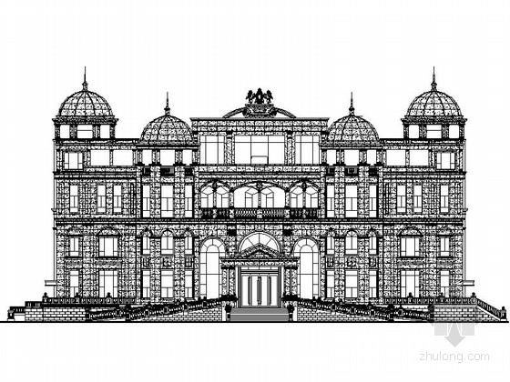 某四层欧式风格综合楼幕墙施工图