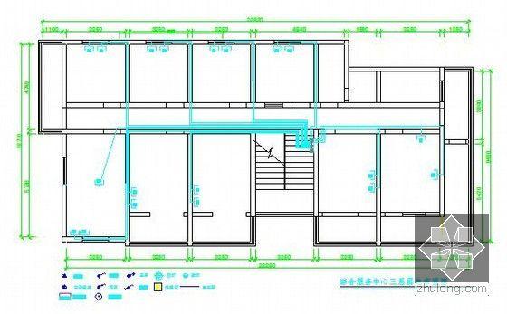 [安徽]综合服务中心装饰工程预算书(附施工图纸及软件文件)-三层弱电布置图