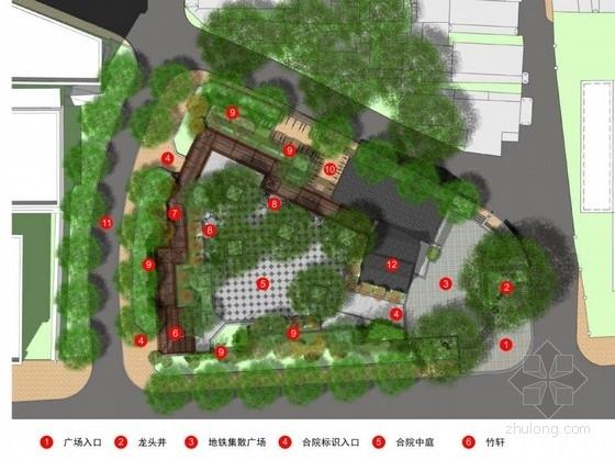 [北京]公共交通枢纽站周边环境景观设计方案