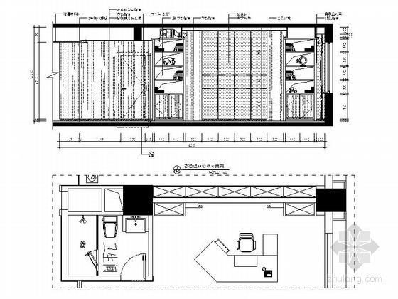 [武汉]现代矿业集团办公楼装修图(含效果)总经理室立面图