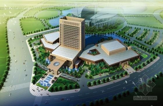 """[南京]四星级""""八字形""""体育宾馆建筑设计方案文本"""