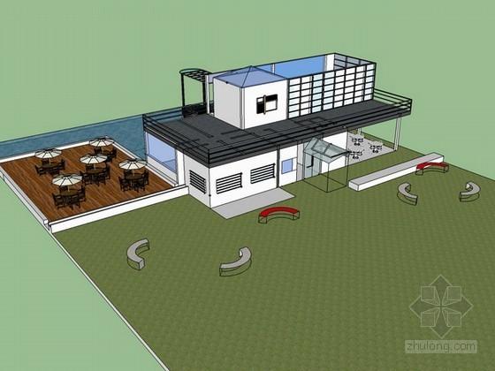休闲茶室设计sketchup模型下载