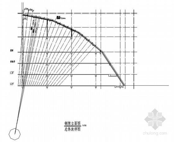 [广西]钢结构弧形雨篷结构施工图