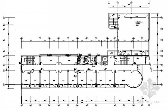 福建省某办公楼给排水平面图