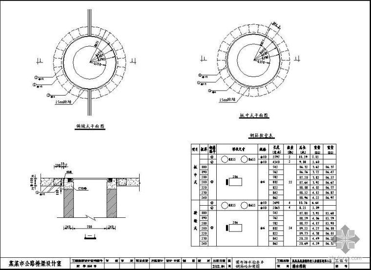 圆形排水检查井钢筋砼加固图_1