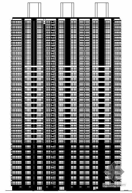 [山东省德州]某大型住宅小区楼群建筑结构水暖电施工图(清华大学建筑院)
