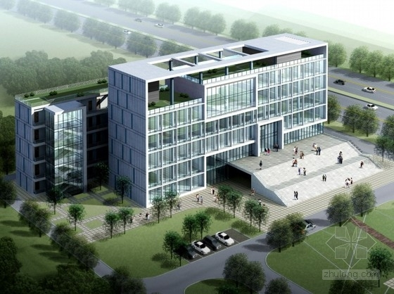[南昌]某6层行政办公楼建筑方案文本(含CAD)