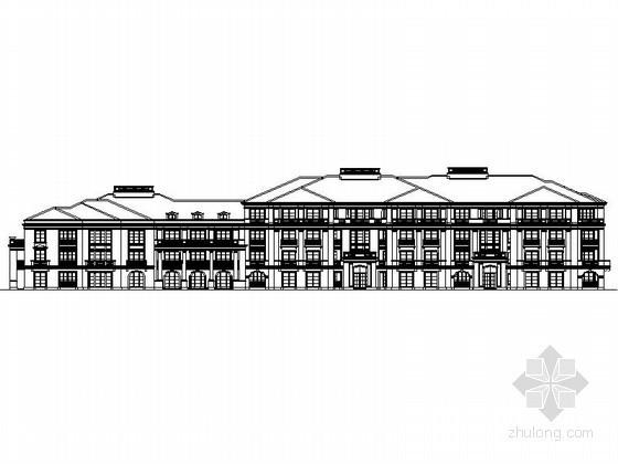 某四層歐式新古典風格花園洋房建筑方案圖