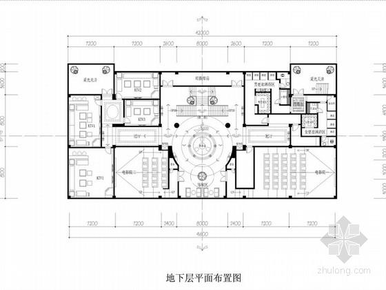 [厦门]某豪会所现代风格KTV室内装修施工图(含效果)