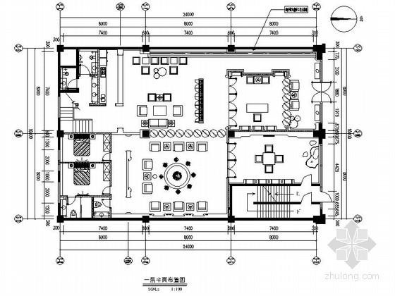 [海南]某现代中式时尚会所室内装修图
