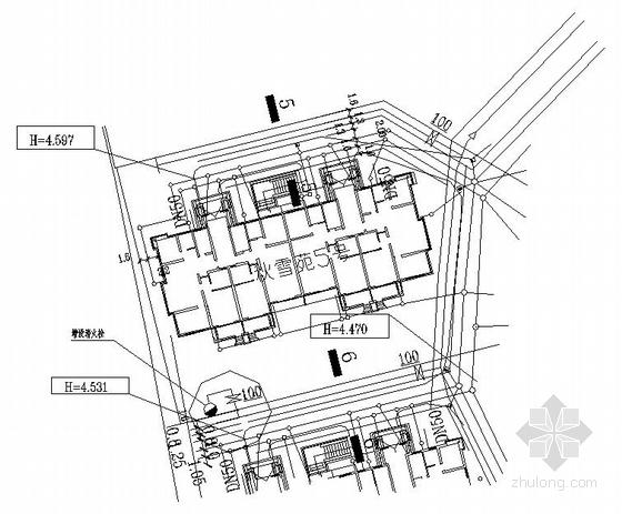 紫金庭院内部给水管施工图的修改设计