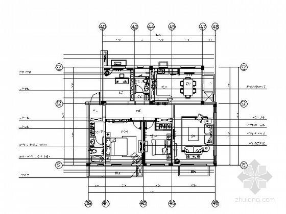 [大连]130平米精装三居样板房施工图(含实景)