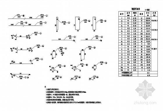 1×16米预应力混凝土空心板成套cad设计图纸