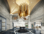 欧式大气大厅3D模型下载
