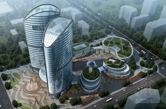 [四川]超高层建内凹弧形企业科研中心建筑设计方案文本