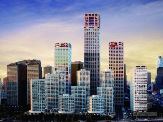 [北京]63层超高层组合幕墙商业综合体建筑设计方案文本